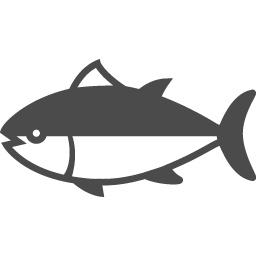 魚のシルエット