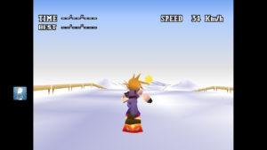 FF7ミニゲームのスノーボード開始画面