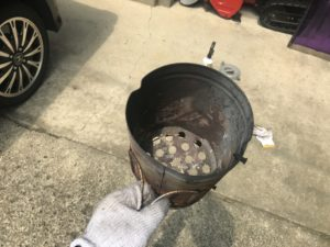 火起こし壺の中身の写真