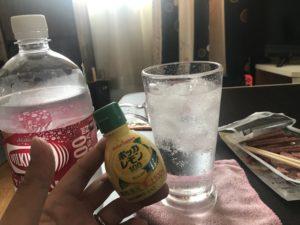 チューハイとポッカレモンの写真